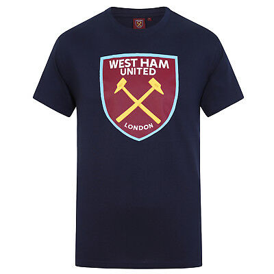 West Ham United FC Official Football Gift Mens Crest T-Shirt