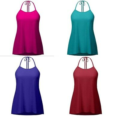 Plus Size Tank Tops Beach Sexy T-shirt Women Vest Backless Halter Yoga Soft