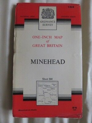 O/S one-inch map Great Britain MINEHEAD (1966) sheet 164