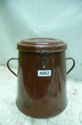 Alter Emaille Email Topf Old Enamelware Pot 3367 Metallobjekte