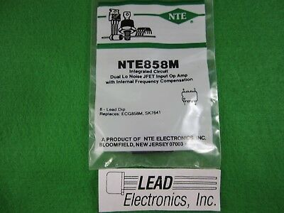 NTE928M ECG928M SK3692 LM358N NE532N TL022 LM2904N IC Low Power Dual