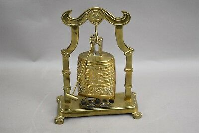 Chinese Temple Buddhism Brass Hanging Bell Striker 8.5""