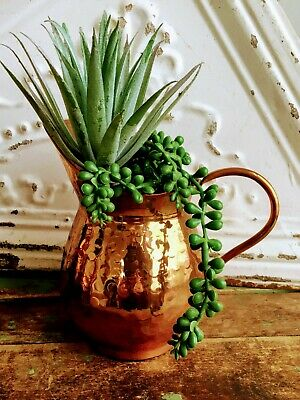 Vintage Hammered COPPER Pitcher 6.5""
