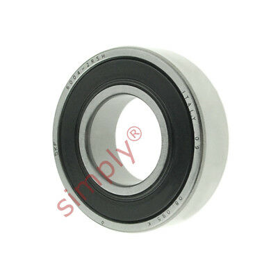 4pc SKF 6004-2RSH rubber seals deep groove ball bearing Made in France new