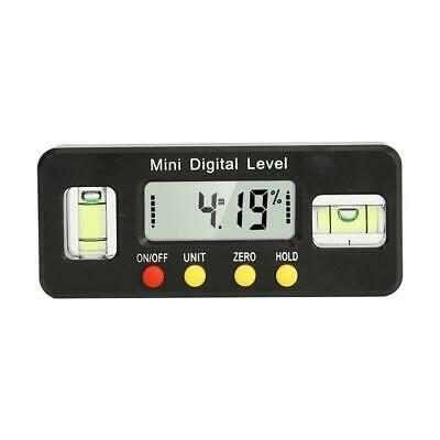 Mini Digital Level Protractor Finder Inclinometer Angle Bevel Box Caliper(Black)