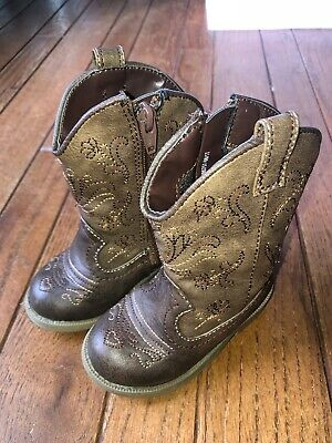 446688740b2 CAT   JACK Toddler Size 5 Brown Cowgirl Cowboy Boots Target -  11.99 ...