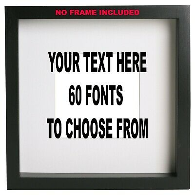 Customised Box Frame Sticker Decal 60 FONTS Quote 3 Sizes DIY  design your own
