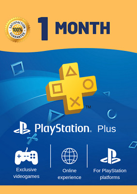 Psn Plus 28 Days Trial 1 Month - Ps4 - Ps3 - Ps Vita Playstation