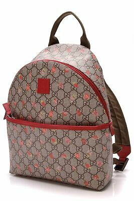 44a14dde37a6 GUCCI CURRENT GG Supreme Animalier Web & Bee Embroider Backpack Bag ...