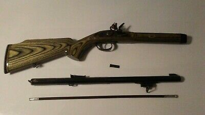 BLACK POWDER 45 cal flintlock, missing frizzen parts, decorator or