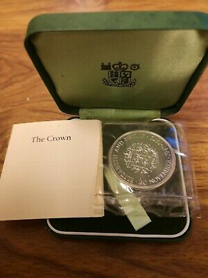 1972 Queens silver Wedding proof crown coin - 28.3g sterling