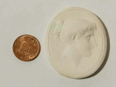 Antique Roman or Greek Woman in Profile Plaster Moulding Grand Tour #W52