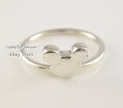 6aa1be295 Disney MICKEY SILHOUETTE Authentic PANDORA Silver Ring 197508 6 (52) NEW w  POUCH