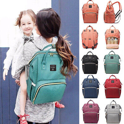 Mummy Waterproof Baby Diaper Nappy Backpack Maternity Large Capacity Travel Bag
