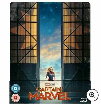 Marvel's Captain Marvel 3D Zavvi UK Edition Steelbook