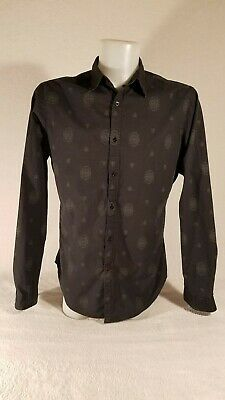 Guess Mens Button Down Black Designer Shirt Size L Red G United Arab Emirates