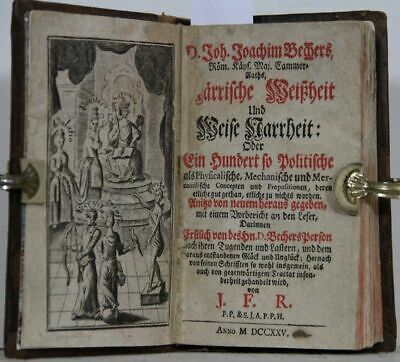 Närrische Weißheit and Wise Narrheit: or One Hundred so Political as Physi