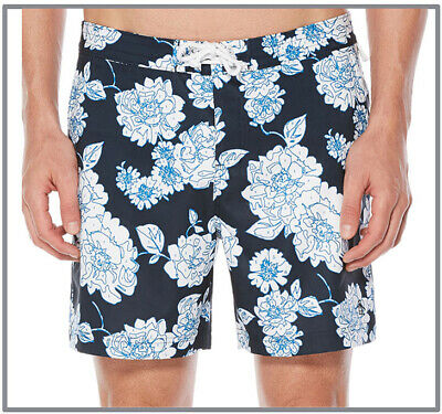 ORIGINAL PENGUIN BIRD Color By Numbers NAVY SWIM SHORTS TRUNKS SIZE 32 NEW! $70