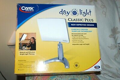 Carex Day Light Classic Plus 10000 Lux Bright Light Therapy Lamp DL93011