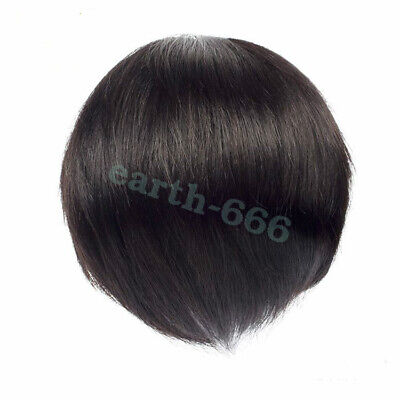 2019 new fashion full hand woven real hair men's head invisible white wig