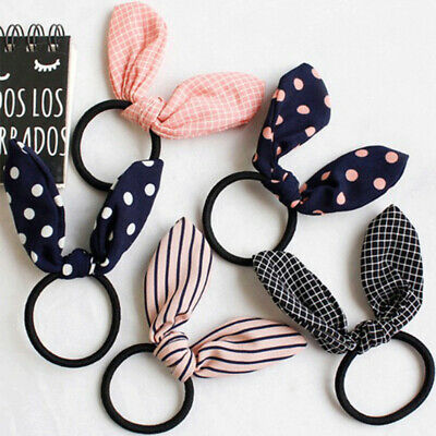 Cute Women Flower Rubber Bands Elastic Hair Band Hair Ties Bow For Children Girl
