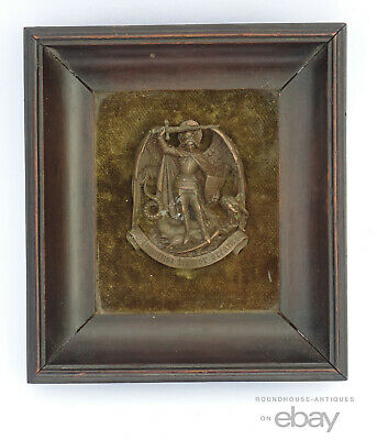 18th C. Antique Order of Saint Michael French Bronze Badge St. Dynastic Chivalry