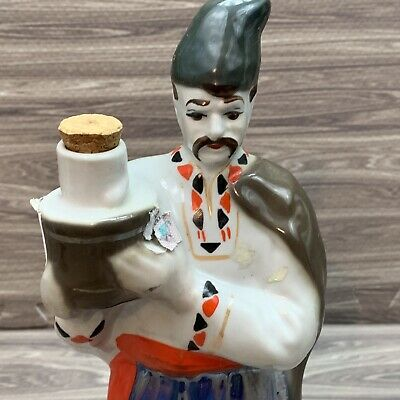 Vintage Japanese Asian Man Decanter Porcelain Statue Figure 11 Inches