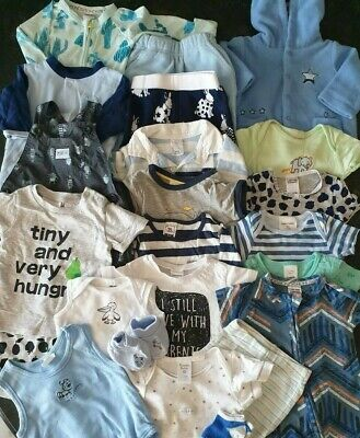 Bulk Baby Boy Clothing - Size 000 - Preloved - Bonds Target etc. - 23 items