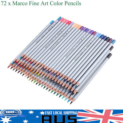 72 Colors Watercolor Pencils Wood Water Soluble Colored Art Drawing Pencil Pro
