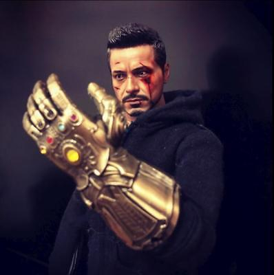 """1/6 The Infinity Glove Gauntlet Mighty Key Chain for 12"""" Figures Hot Toys"""