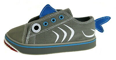 Podlers Blu Boys Casual Canvas Shoes with Shark Print decoration New Style