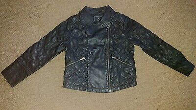 Girls NEXT leather-look Biker Jacket 5-6 years Excellent Condition RRP £25