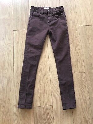 Next Boys Brown Skinny Trousers Jeans age 11