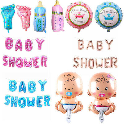 Boy and Girl Baby Balloon Foil BABY SHOWER Balloons f Christening Birthday Party