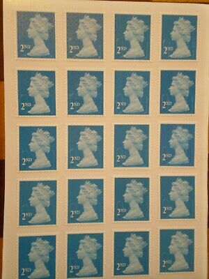 100 x Unfranked, Easy Peel 2nd Class Blue Stamps - Self Adhesive - £34.99