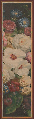 """Flowers Centered French Classical  Tapestry Jacquard  Table Runner 70x18"""""""