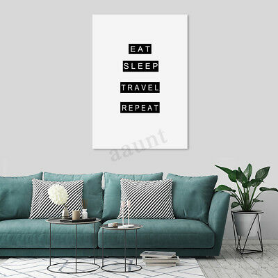 Modern Canvas Print Painting Travel Quotes Wall Art Picture Home Decor Unframed