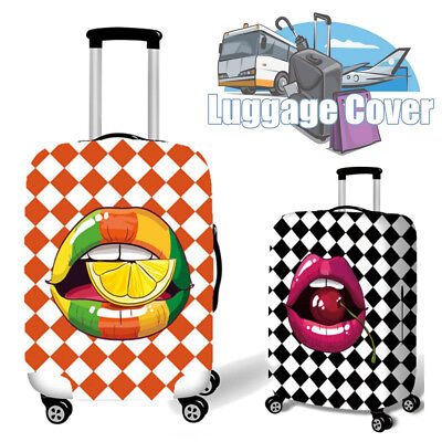Red Cherry Lip Luggage Cover Elastic Travel Suitcase Protector Dustproof Bag