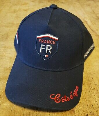 NEW Official Yacht Club De Monaco French Riviera Cote D'azur Blue Baseball Cap