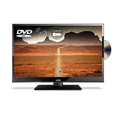 "Cello 16"" Inch Full HD LED 12v TV with Freeview and Satellite Tuner + DVD Player"