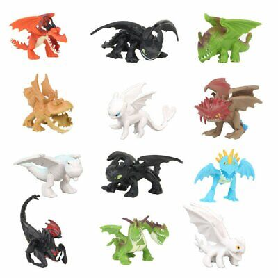 12PCS How To Train Your Dragon Light Night Fury Toothless Action Figure Doll Toy