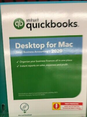 Intuit QuickBooks Desktop for MAC 2019 - Newest Full Retail (Box, Mac Disc)