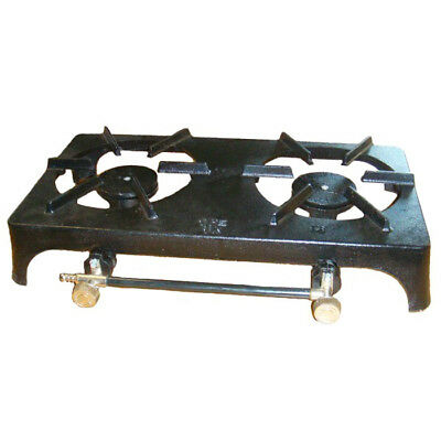 Double Cast Iron Lpg Propane Butane Boiling Twin Ring Outdoor Camping Gas Stove
