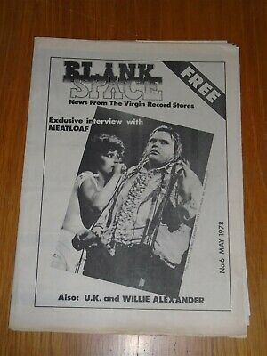 Blank Space Virgin Record Stores #6 May 1978 Meat Loaf Interview Alexander