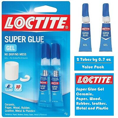 Loctite Super Glue Gel Instant Adhesive Repair Ceramic Wood Rubber Plastic Metal