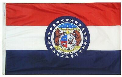 Annin 142960 Missouri State Flag 3x5' SolarGuard Nyl-Glo 100% Made in USA.