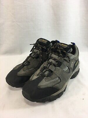 LL Bean Solitude Hiking Sneakers Trail Shoes Mens 9.5 W Gray Gore-Tex Low Top