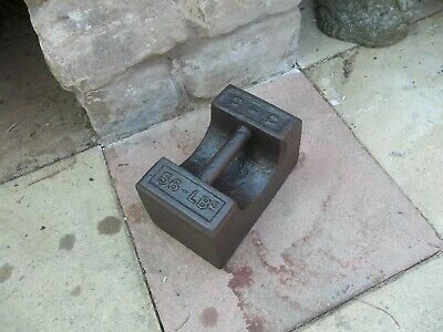 Vintage 56Lb Cast Iron Weight Ideal For Doorstop Or Boat