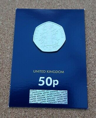 2019 Kew Gardens 50p  Genuine Brilliant Uncirculated Sealed BU Fifty Pence