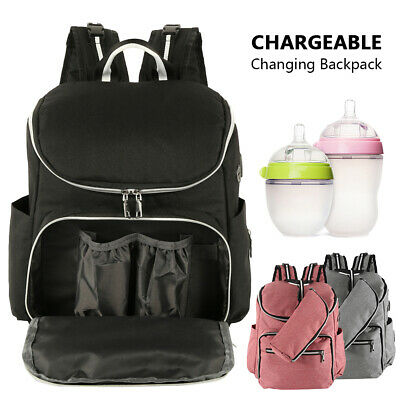 Maternity Baby Bag Nappy Diaper Changing Backpack Mummy Rucksack Travel Bag